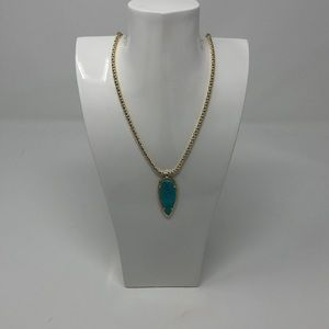 Vintage Kendra Scott Shaylee Necklace Turquoise